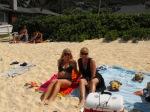 Brook and Jody on Lanikai Beach