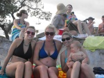 Whitby, Brook, Abby, and Harrison on Nimitz Beach